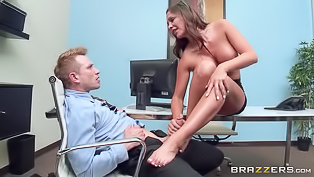Destiny Dixon is a passionate MILF honey and she wants to satisfy her hunky boss. He licks her sexy feet then bangs her tight pussy with passion.