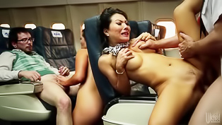 Wonderful Asian brunette named Asa Akira is getting penetrated in the plane. The passenger is drilling her sweet mouth and juicy twat passionately.